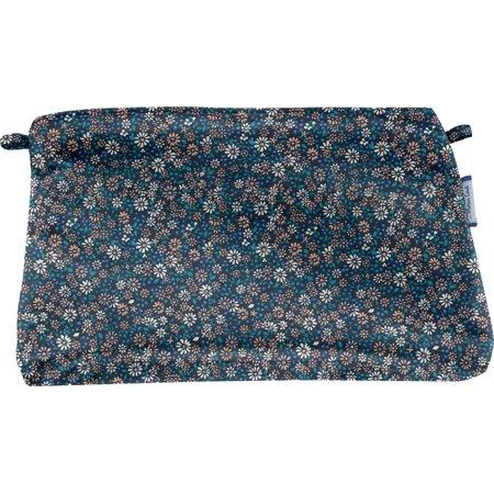 Pochette tissu paquerette marine