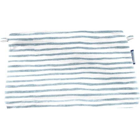 Pochette tissu rayé bleu blanc