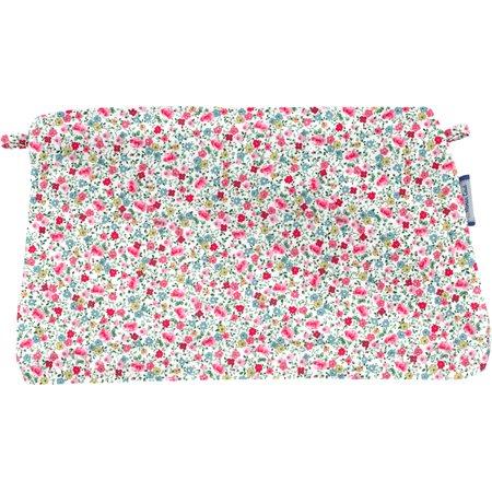 Pochette tissu  roseraie