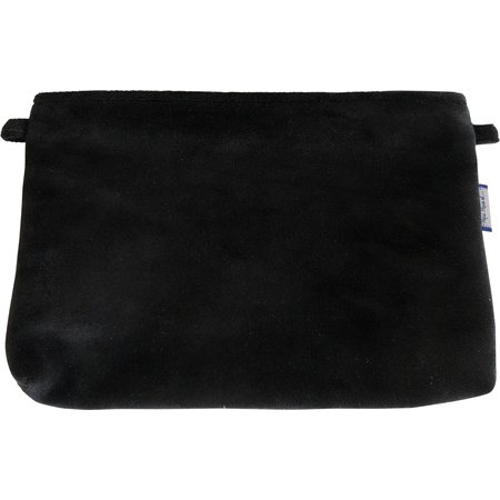 Coton clutch bag black velvet