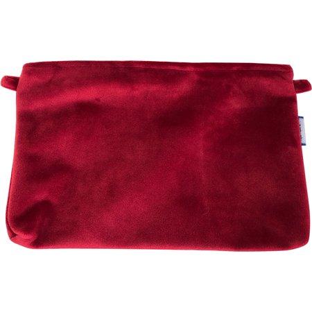 Pochette tissu  velours rouge