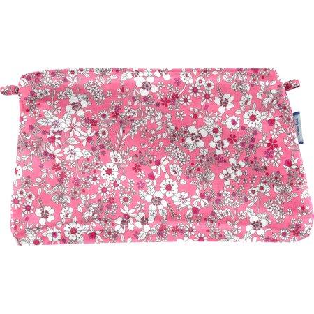 Pochette tissu violette rose