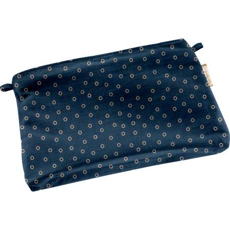 Tiny coton clutch bag bulle bronze marine