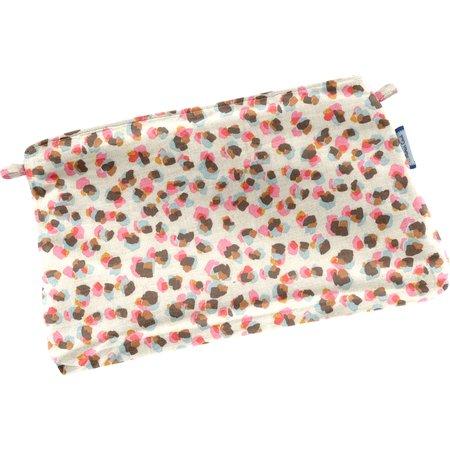 Mini pochette tissu confetti aqua
