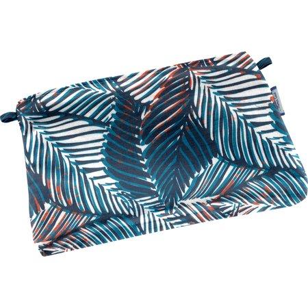Mini pochette tissu feuillage marine