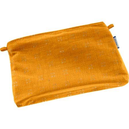 Mini pochette tissu gaze dentelle ocre