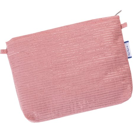 Tiny coton clutch bag dusty pink lurex gauze