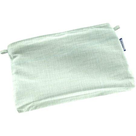 Mini pochette tissu gaze vert d'eau