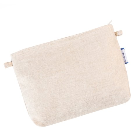 Tiny coton clutch bag  glitter linen
