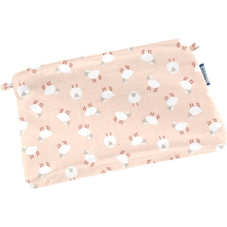 Mini pochette tissu mouton rose