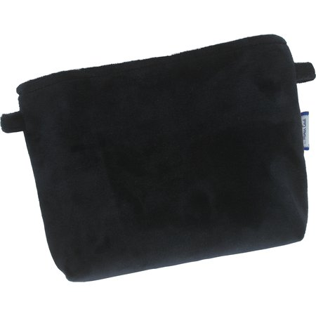 Tiny coton clutch bag navy velvet