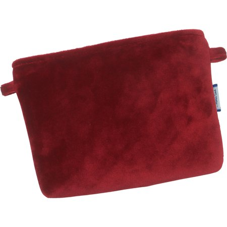 Tiny coton clutch bag red velvet