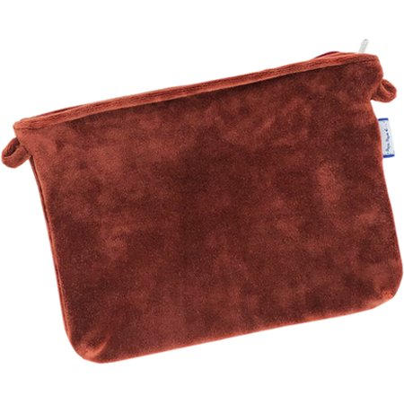 Tiny coton clutch bag terracotta velvet