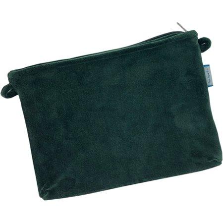 Mini pochette tissu velours vert forêt