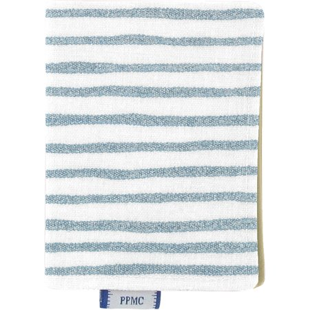 Card holder striped blue gray glitter