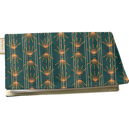 Chequebook cover eventail or vert