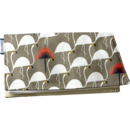 Chequebook cover flamingo