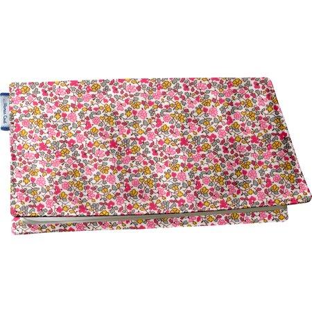 Chequebook cover pink jasmine