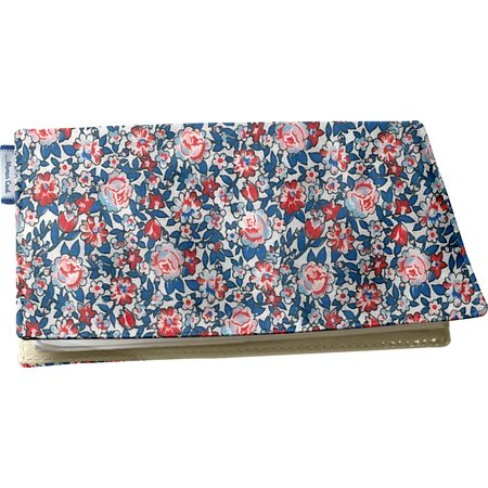 Chequebook cover flowered london
