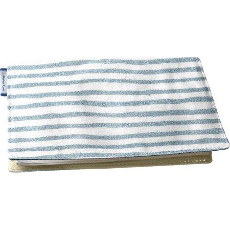 Porte chéquier rayé bleu blanc