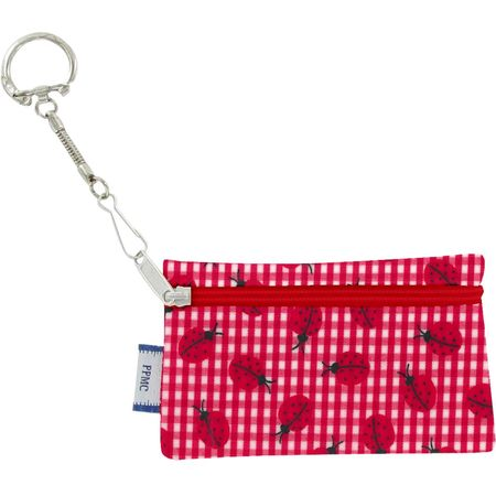 Keyring  wallet ladybird gingham