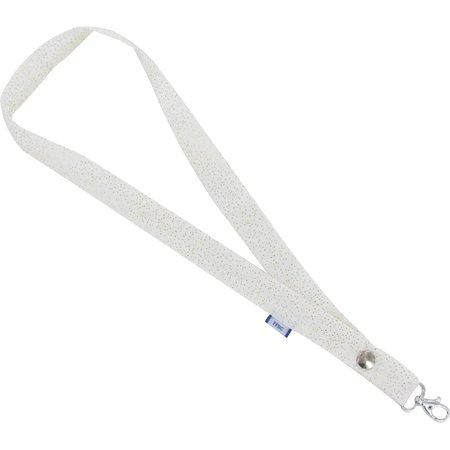 Porte-clés collier  blanc pailleté