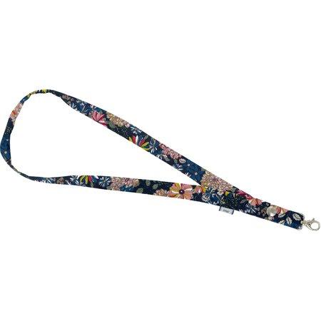 Porte-clés collier dahlia rose marine