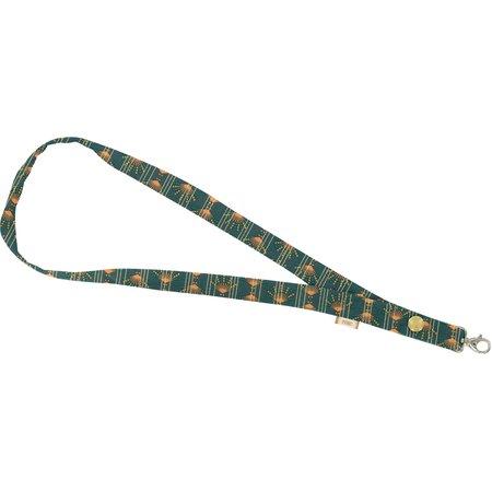 Porte-clés collier eventail or vert