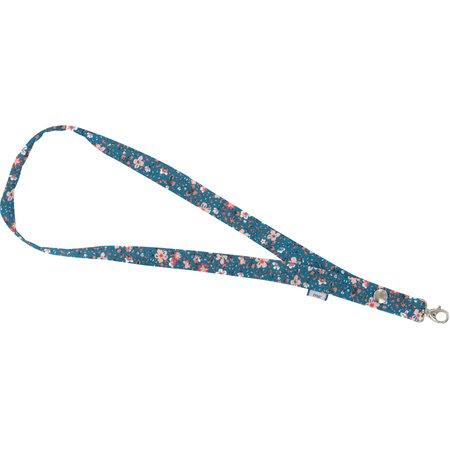 Porte-clés collier fleuri nude ardoise
