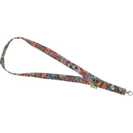 Porte-clés collier lettres multi