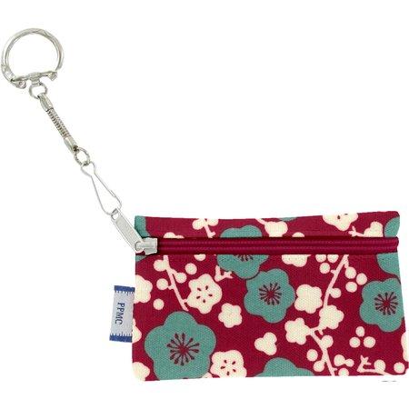 Pochette porte-clés cerisier rubis jade