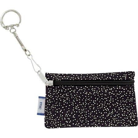 Pochette porte-clés noir pailleté