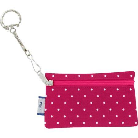 Keyring  wallet fuschia spots