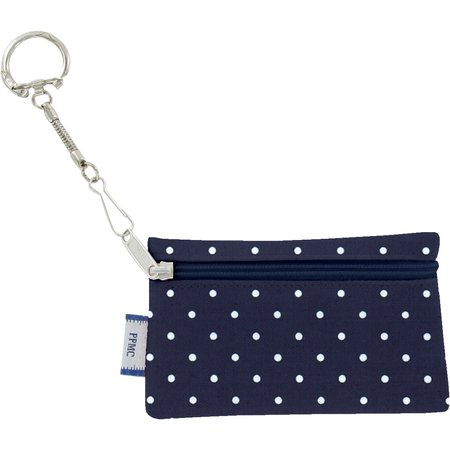 Keyring  wallet navy blue spots