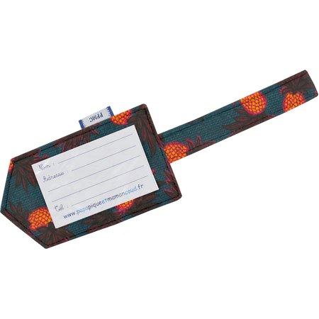 Etiqueta para equipaje fiesta de piña