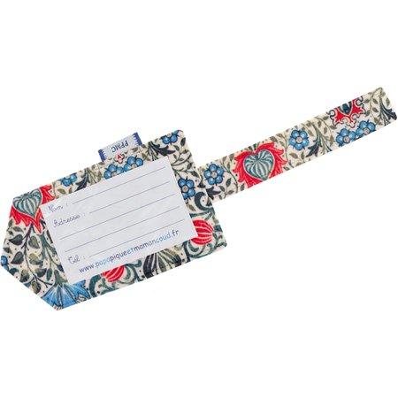 Etiqueta para equipaje azulejos