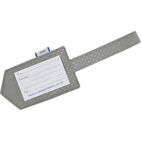 Luggage Tag etoile or gris