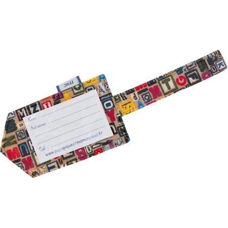 Etiquette bagage lettres multi