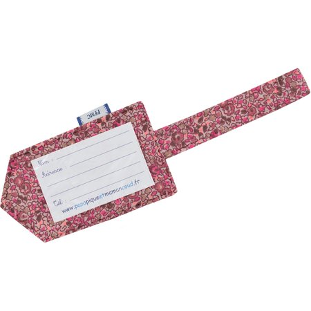 Etiquette bagage lichen prune rose