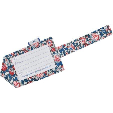 Etiquette bagage london fleuri