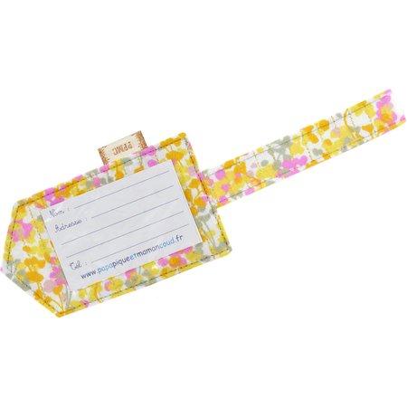 Luggage Tag mimosa jaune rose