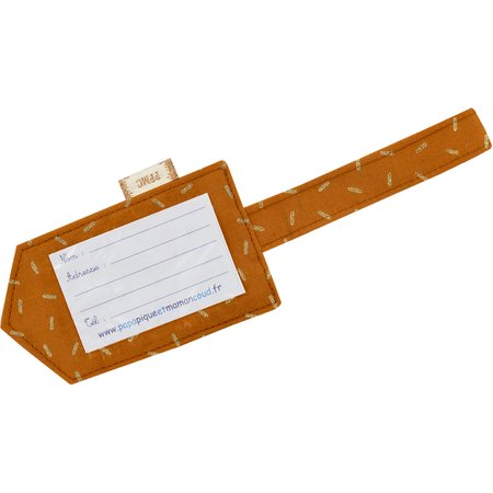 Luggage Tag caramel golden straw