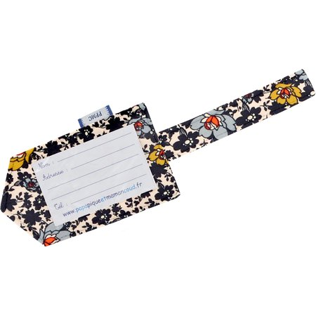 Luggage Tag ochre flower