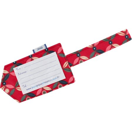 Luggage Tag paprika petal