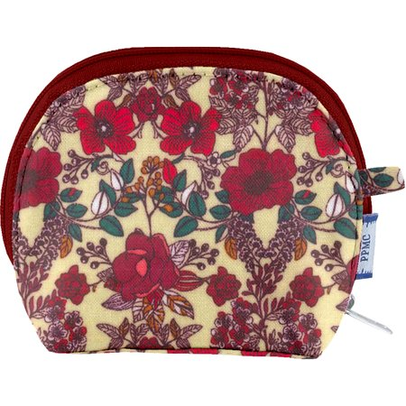 gusset coin purse poppy