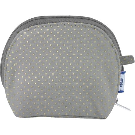 gusset coin purse etoile or gris
