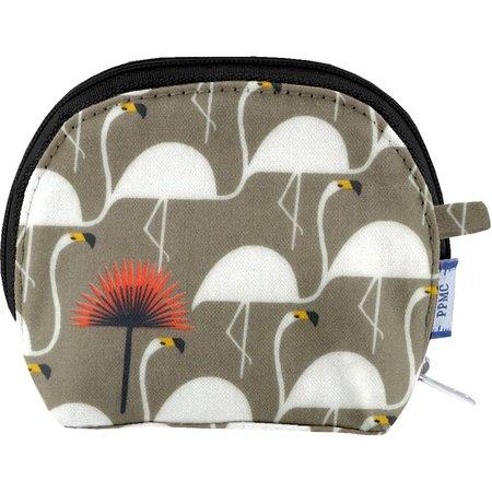 gusset coin purse flamingo