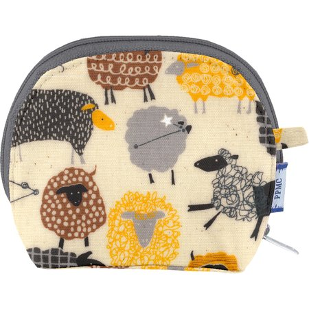 gusset coin purse yellow sheep