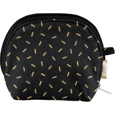 gusset coin purse golden straw