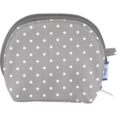 gusset coin purse light grey spots